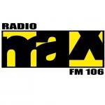 Logo da emissora MAX 106 FM
