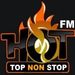 Logo da emissora Hot 96.8 FM