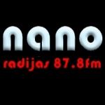 Logo da emissora Nano Radijas 87.8 FM