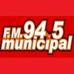 Logo da emissora Radio Municipal 94.5 FM