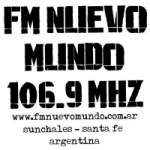 Logo da emissora Radio Nuevo Mundo 106.9 FM
