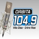 Logo da emissora Radio Orbita 104.9 FM