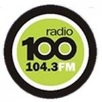 Logo da emissora Radio 100 104.3 FM