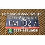 Logo da emissora Radio Reencuentro 102.7 FM