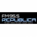 Logo da emissora Radio República 95.5 FM