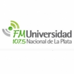 Logo da emissora Radio Universidad 107.5 FM
