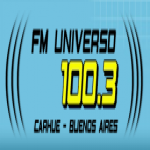 Logo da emissora Radio Universo 100.3 FM