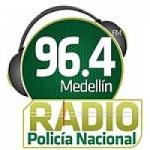 Logo da emissora Radio Policía Nacional 96.4 FM