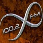 Logo da emissora X FM 100.2