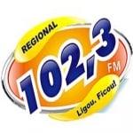 Logo da emissora Rádio Regional 102.3 FM