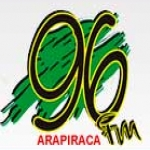 Logo da emissora Rádio 96 FM Arapiraca