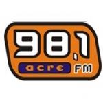 Logo da emissora R�dio Acre 98.1 FM