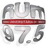 Logo da emissora Rádio Universitária do Minho 97.5 FM
