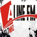 Logo da emissora R�dio Aline 93.7 FM