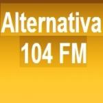 Logo da emissora Rádio Alternativa 104 FM