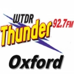 Logo da emissora WTDR 92.7 FM Thunder