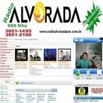 Logo da emissora Rádio Alvorada 660 AM