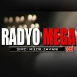 Logo da emissora Mega 105.4 FM