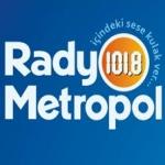 Logo da emissora Metropol 101.8 FM