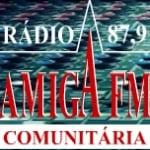 Logo da emissora Rádio Amiga 87.9 FM