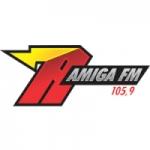 Logo da emissora Rádio Amiga 105.9 FM