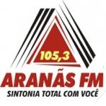 Logo da emissora Rádio Aranãs 105.3 FM