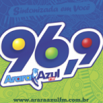 Logo da emissora Rádio Arara Azul 96.9 FM