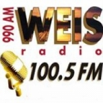 Logo da emissora WEIS AM 990 FM 100.5