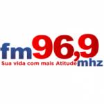 Logo da emissora Rádio Atitude 96.9 FM
