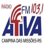 Logo da emissora Rádio Ativa 103.1 FM