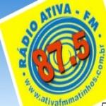Logo da emissora Rádio Ativa 87.5 FM