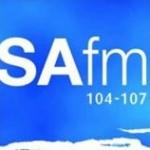 Logo da emissora Radio SAfm 104 FM