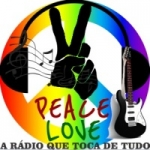 Logo da emissora Peace Love do Rock ao MPB