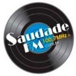 Logo da emissora Radio Saudade 100.7 FM