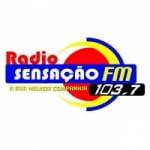 Logo da emissora Rádio Sensação FM