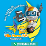 Logo da emissora RadCom Vila Nova FM