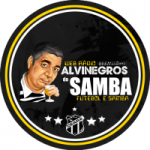 Logo da emissora Rádio Alvinegros do Samba