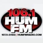 Logo da emissora Radio HUM 106.1 FM