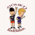 Logo da emissora Atomico RockStation