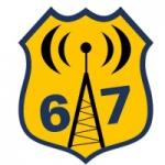 Logo da emissora Rádio Antena 67