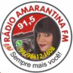 Logo da emissora Rádio Amarantina 91.5 FM