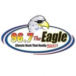 Logo da emissora WKGL The Eagle 96.7 FM