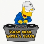 Logo da emissora Flash Back House e Black