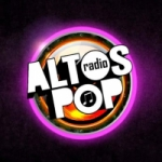 Logo da emissora Rádio Altos Pop