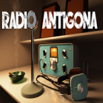 Logo da emissora Rádio Antigona