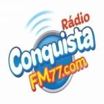 Logo da emissora Rádio Conquista FM 77