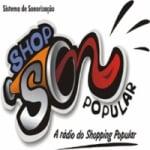 Logo da emissora Rádio Shop Som Popular