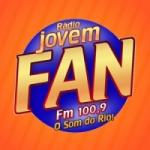 Logo da emissora Rádio Jovem Fan FM