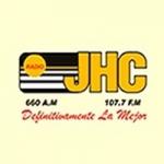 Logo da emissora Rádio JHC 600 AM 107.7 FM