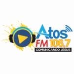 Logo da emissora Rádio Atos FM